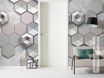 Tapete: Hexagon Concrete