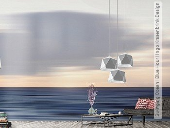 Tapete: Swinging Ocean | Blue Hour | Ingo Krasenbrink Design