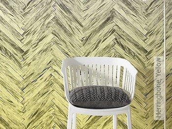 Tapete: Herringbone, Yellow