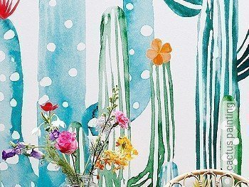 Tapete: cactus painting