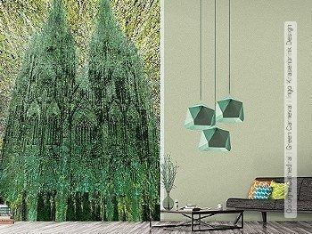 Tapete: Cologne Cathedral | Green Carneval | Ingo Krasenbrink Design
