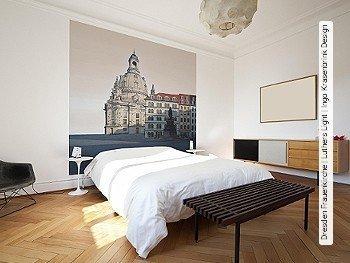Tapete: Dresden Frauenkirche | Luthers Light | Ingo Krasenbrink Design