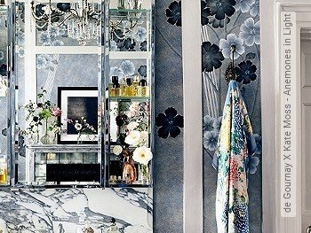 Tapete: de Gournay X Kate Moss - Anemones in Light