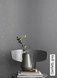 Tapeten  - TopTapeten Confetti, grey