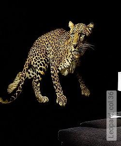 Price:409,30 EUR - Kollektion(en): - Mural - EN15102 / EN13501.B-s1 d0 - Good light fastness - animal print - Black - Ocher