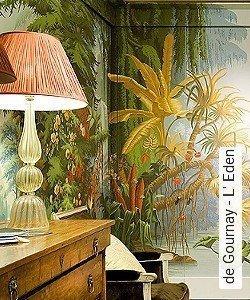 Tapete  - Exotische Tapeten de Gournay - L' Eden