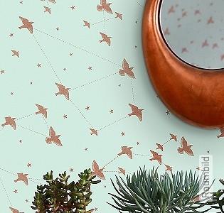 Bild Tapete - Star-ling, pale verdigris & copper