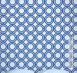 Bild Tapete - Palladian Loop, blue