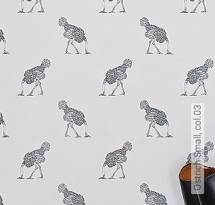 Bild Tapete - Ostrich Small, col.03