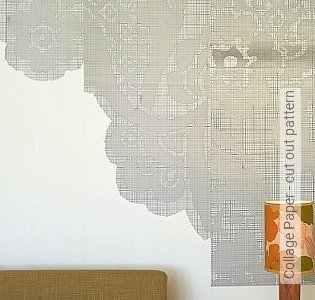 Bild Tapete - Collage Paper - cut out pattern