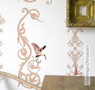 Bild Tapete - Flamingo Chiroscuro