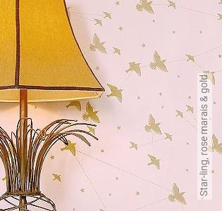 Bild Tapete - Star-ling, rose marais & gold