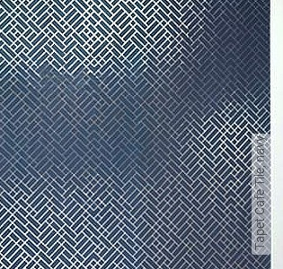 Bild Tapete - Tapet Cafe Tile, navy