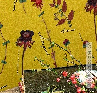 Bild Tapete - Botanicals, gold yellow