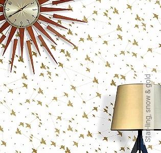 Bild Tapete - Star-ling, snow & gold