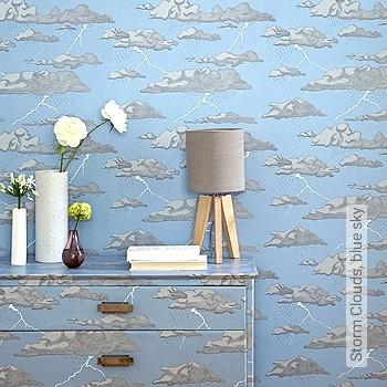wolken grau blau tapeten lust auf was neues. Black Bedroom Furniture Sets. Home Design Ideas