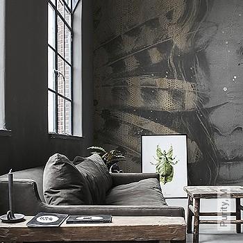 Preis:590,00 EUR - Kollektion(en): - Braun - Tapeten in Grau - FotoTapete - EN15102/EN13501.B-s1 d0 - Trocken restlos abziehbar - Gesichter - Moderne Tapeten