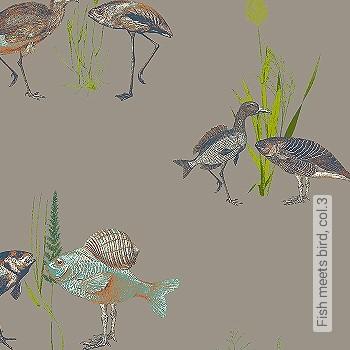 Preis:85,75 EUR - Kollektion(en): - Braun - Tapeten in Grau - Tapeten mit Vogelmotiven