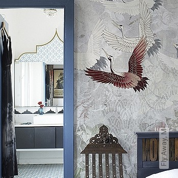 Price:590,00 EUR - Kollektion(en): - Brown - Dimension holding - grey - Mural - EN15102 / EN13501.B-s1 d0 - Birds