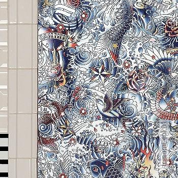 Preis:130,60 EUR - Kollektion(en): - EN15102/EN13501.B-s1 d0 - Gute Lichtbeständigkeit - Schwarz - Animal Print