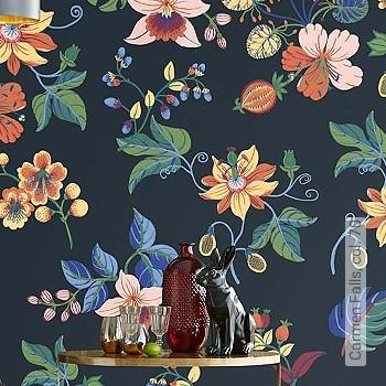 Preis:530,00 EUR - Kollektion(en): - EN15102/EN13501.B-s1 d0 - Gute Lichtbeständigkeit - Schwarz - Florale Muster