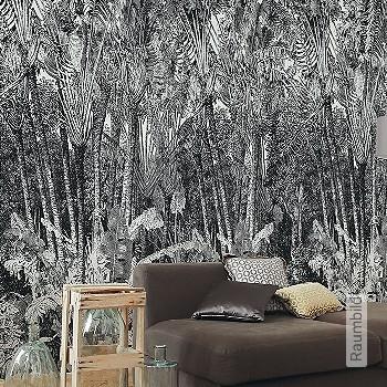 Preis:438,50 EUR - Kollektion(en): - FotoTapete - Gute Lichtbeständigkeit - Schwarz - Florale Muster