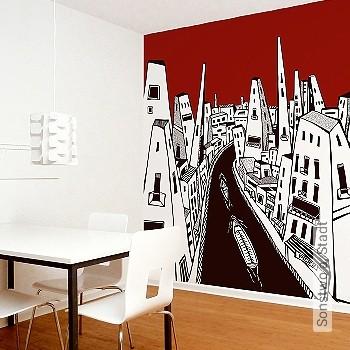 Preis:278,00 EUR - Kollektion(en): - FotoTapete - Gute Lichtbeständigkeit - Schwarz - Rote Tapeten