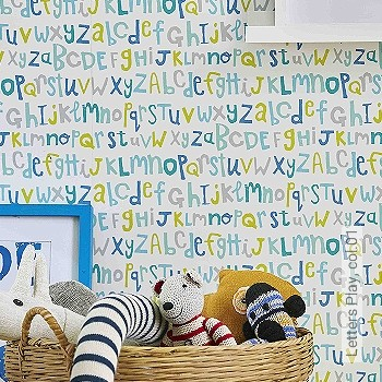 Preis:48,00 EUR - Kollektion(en): - KinderTapeten - Buchstaben