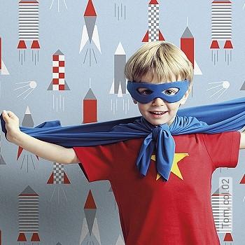 Preis:54,00 EUR - Kollektion(en): - KinderTapeten - Rote Tapeten
