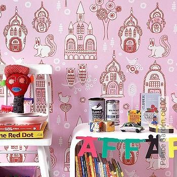 Preis:86,40 EUR - Kollektion(en): - KinderTapeten - Rote Tapeten