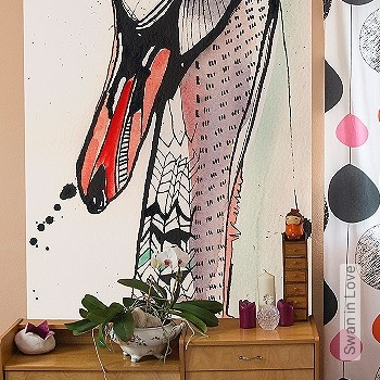 Price:129,00 EUR - Kollektion(en): - Mural - Drawings - Birds