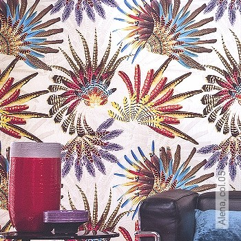Price:438,50 EUR - Kollektion(en): - Mural - feathers - Good light fastness - Black