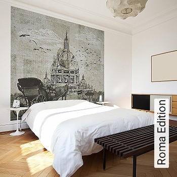 Price:300,13 EUR - Kollektion(en): - Mural - grey - Good light fastness - Black