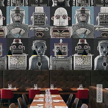 Price:438,50 EUR - Kollektion(en): - Mural - grey - Good light fastness - Black