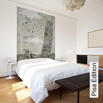 Price:214,38 EUR - Kollektion(en): - Mural - grey - Good light fastness - Black