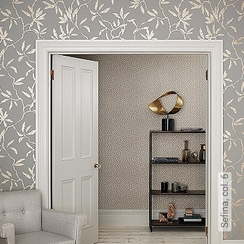 bl tter grau gold tapeten lust auf was neues. Black Bedroom Furniture Sets. Home Design Ideas