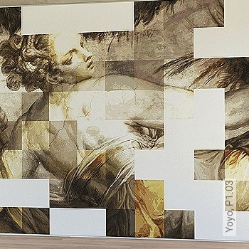 Preis:461,00 EUR - Kollektion(en): - Weiß - Kachel & Fliesen - Ocker - Moderne Tapeten