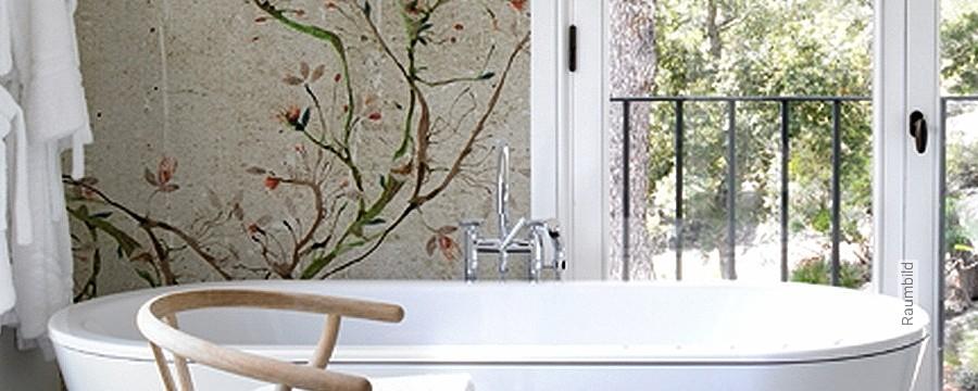 Badezimmer - Florale Muster - FotoTapete - Tapeten || Lust ...