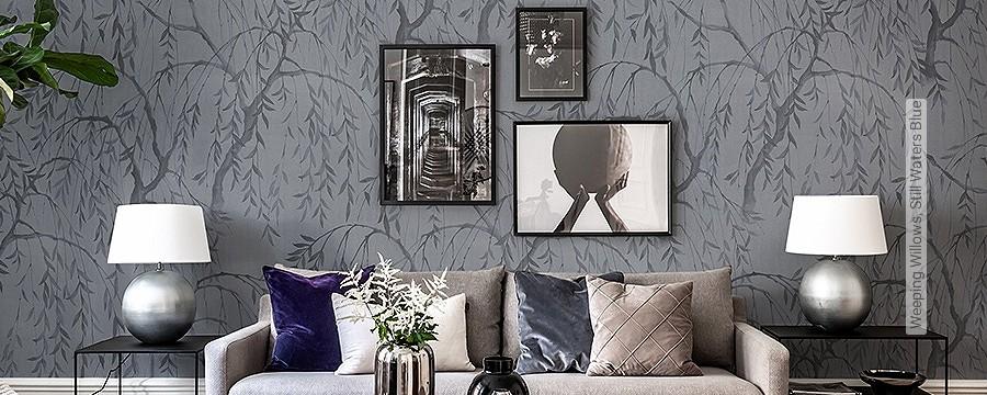 Wohnzimmer - Grau - Tapeten    Lust auf was Neues ...