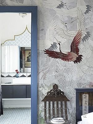 Price:590,00 EUR - Kollektion(en): - Brown - grey - Mural - EN15102 / EN13501.B-s1 d0 - Birds - Bedroom