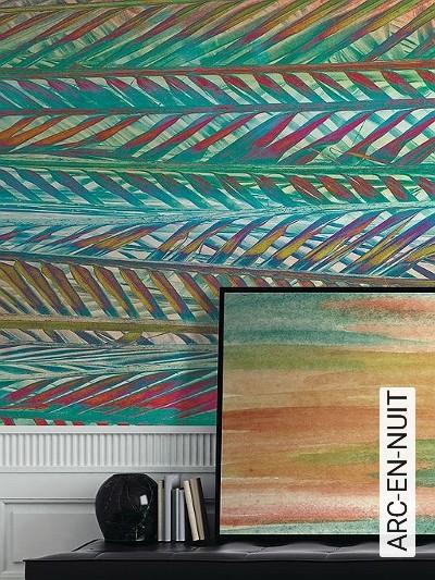 ARC-EN-NUIT-Blätter-FotoTapeten-Multicolor