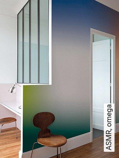 ASMR,-omega-Moderne-Muster-FotoTapeten-Grün-Blau-Orange-Weiß