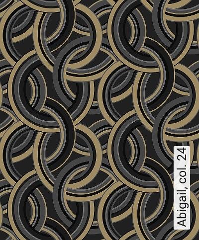 Abigail,-col.-24-Kreise-Grafische-Muster-Art-Deco-Gold-Silber-Grau-Schwarz