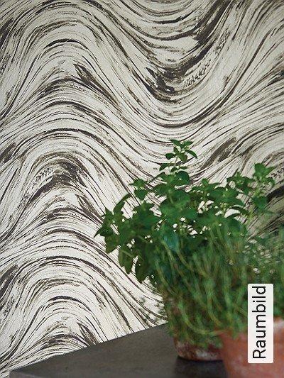 Agata,-charcoal/gold-Wellen-Moderne-Muster-Gold-Anthrazit