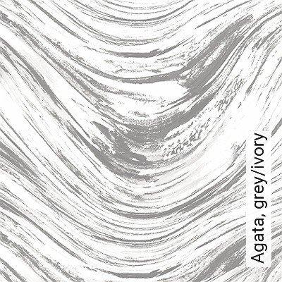 Agata,-grey/ivory-Wellen-Moderne-Muster-Silber-Grau-Weiß
