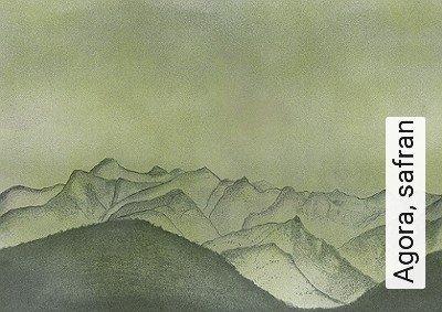 Agora,-safran-Landschaft-Fototapeten-FotoTapeten-Grün-Anthrazit