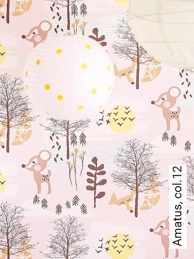 Amatus,-col.12-Tiere-Bäume-KinderTapeten-Braun-Orange-Rosa-Weiß