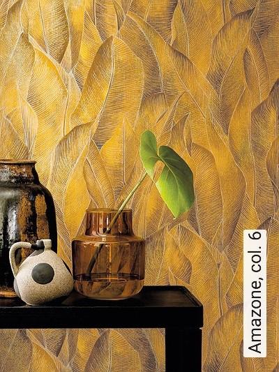 Amazone,-col.-6-Blätter-Florale-Muster-Orange-Creme-Ocker