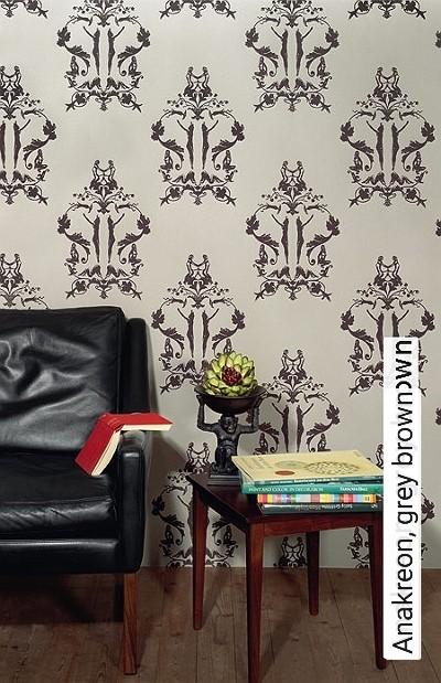 Anakreon,-grey-brown-Ornamente-Figuren-Klassische-Muster-Art-Deco-Braun-Creme