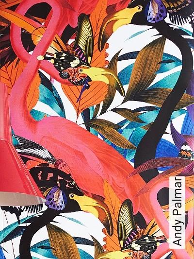 Andy-Palmar-Tiere-Blätter-Fauna-Florale-Muster-Multicolor